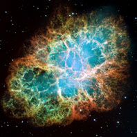 supernova remnant of a star that exploded around the year 1054