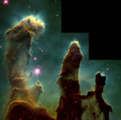 closer view of the Eagle Nebula