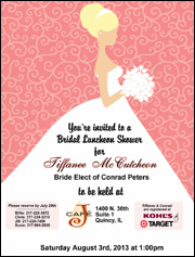 Wedding Shower Tri-fold Invitation